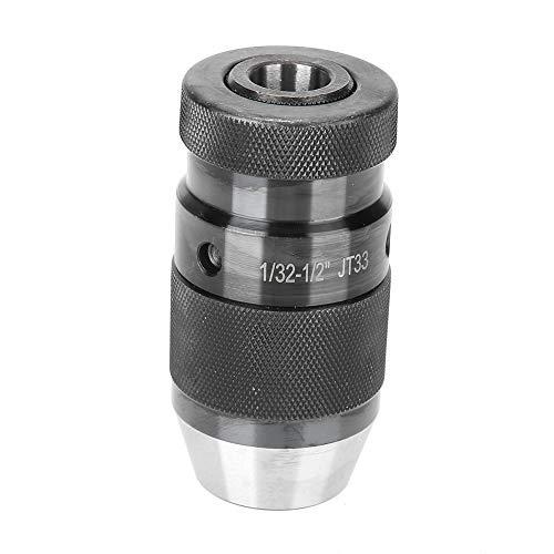 TAKE FANS Rotador CNC de acero al carbono, 1/22 – 1/2 pulgadas, autotensado, portabrocas, adaptador de broca, abrazadera giratoria, soporte Jt33 Specialized Arbor