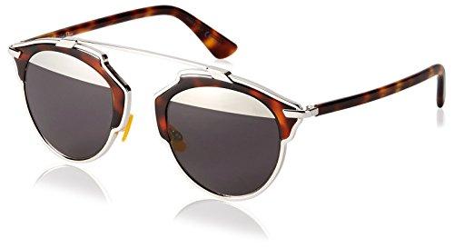 Dior DIORSOREAL MD AOO Gafas de sol, Marrón (Palladium Havana/Grey Mesh), 48 para Mujer