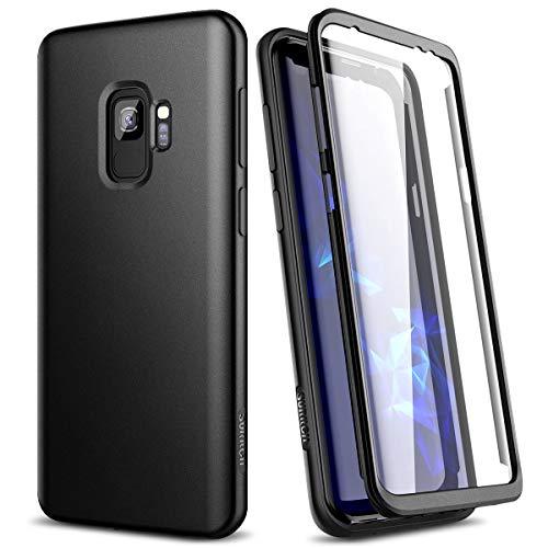 SURITCH Cover Custodia Samsung Galaxy S9 Silicone 360 Gradi Antiurto TPU Indistruttibile Bumper Samsung Galaxy S9 Nero