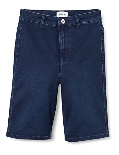Only ONLROYAL HW Bike Shorts DNM PIM Pantalones Cortos de Jean, Dark Azul Denim, XL para Mujer