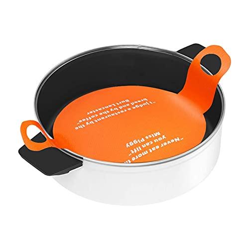 libelyef Molde de silicona para horno holandés, alfombrillas de silicona reutilizables para hornear, no más papel de pergamino, pasta, pasta, pan de masa, eslinga para hornear