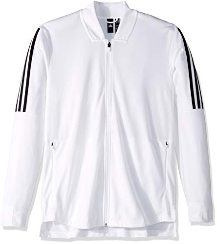 adidas Men's Athletics ID Tricot Bomber, White, Large