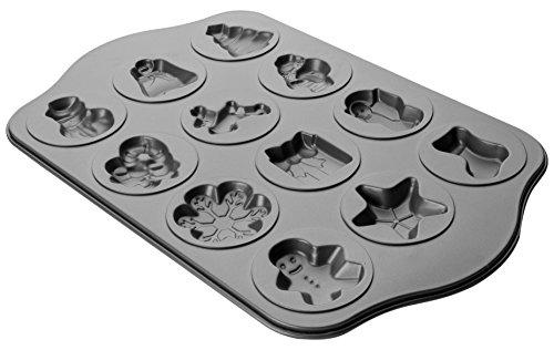IBILI 828400 Plaque à 12 Biscuits, Acier, Noir, 43 x 28 x 2 cm