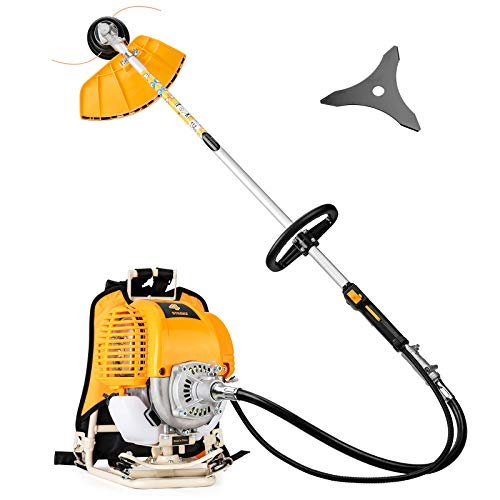 SALEM MASTER 31CC Stringless Weed Eater Gas Powered Weed Wacker Cordless Straight Shaft 4 Cycle Gasoline Weed Trimmer Brush Cutter…