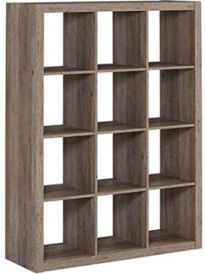 Better Homes and Gardens 12 Cube Storage Organizer, Rustic Gray + Free Home Decor