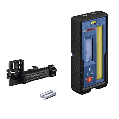 Bosch Professional Laser-Empfänger LR 45 (roter und grüner Laserstrahl, Empfängerhalterung RB 45, 2 AA-Batterien, Reichweite: bis 300 m Radius)