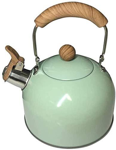 SKYEI Kettle Wheezing Tetera Kettle Kettle silbate en Acero Inoxidable 304 Camping Senderismo Picnic Camping Capacidad Capacidad: 2L Adecuado para la Taza de té de Cocina (Color : Green)