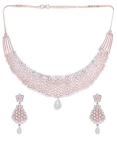 Juego de joyas de piedras artificiales y cuentas para mujeres y niñas (dorado)