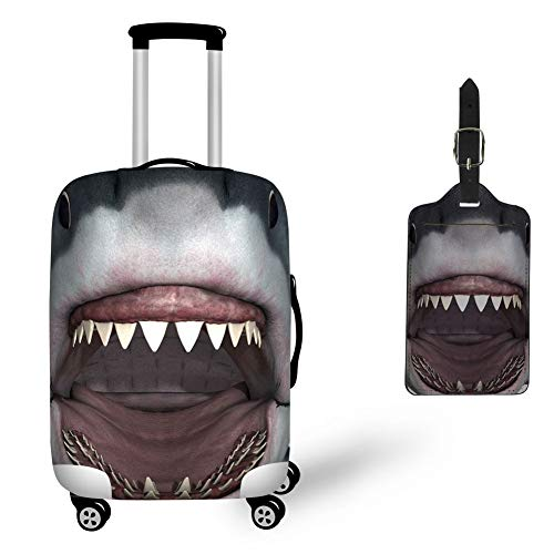 Nopersonality Trolley Case Protective Cover for 26-30 Travel Luggage Suitcase Protector Large - Fun Shark Animal Print