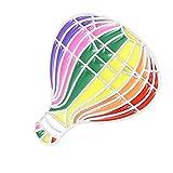 Happyyami Lindo Esmalte Pin de Solapa Arco Iris Broche para Ropa Bolsas Mochilas Accesorios de Joyería (Globo de Aire Caliente 2)