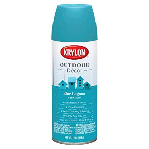 Krylon Outdoor Décor Spray Paint, 12 Ounce (Pack of 1), Blue Lagoon
