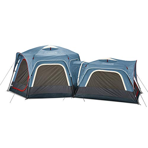Coleman 3-Person & 6-Person Connectable Tent Bundle | Connecting Tent System with Fast Pitch Setup, Set of 2, Blue