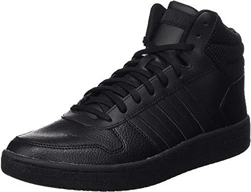 adidas Herren Hoops 2.0 Mid Basketballschuhe, Schwarz (Core Black/Core Black/Core Black Core Black/Core Black/Core Black), 42 2/3 EU (8.5 UK)