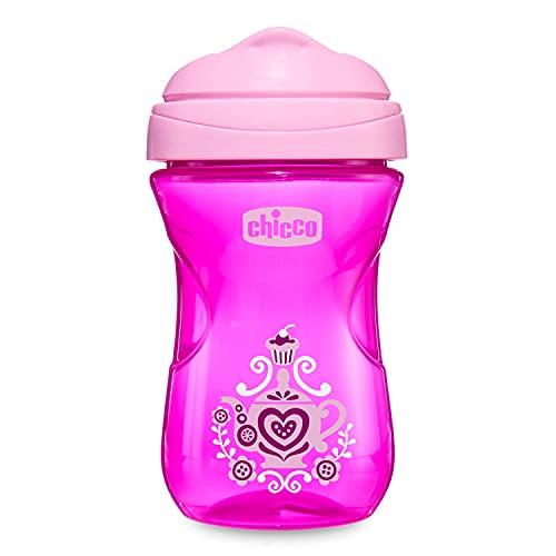Chicco Easy Cup Bicchiere Antigoccia per Bambini 266 ml, 1 Tazza Biberon 12+ Mesi per Imparare a Bere, con Beccuccio Ergonomico Resistente ai Morsi e Valvola Facili Sorsi, senza BPA - Rosa o Viola