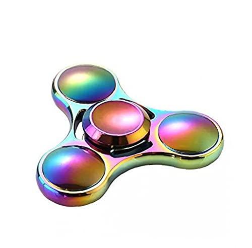 Hand Spinner Juguete, Rainbow Metal Tri Spinter Tri-spinter Fidget Toy Para El Estrés Y El Alivio De La Ansiedad - Edc Office Toy