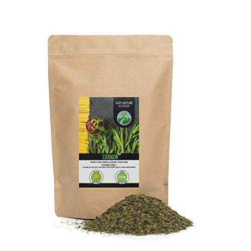 Estragon gerebelt (250g), Estragon schonend getrocknet, Estragonblätter 100% rein und naturbelassen zur Zubereitung von Gewürzmischungen