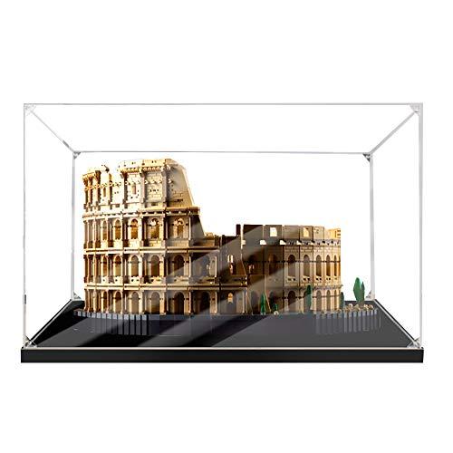 LODIY 2mm Acrilico Vetrina per Lego Colosseo 10276 , Espositore Antipolvere Vetrina per Lego 10276 Colosseum (Solo Vetrina, Lego Modello Non Incluso) (2mm)