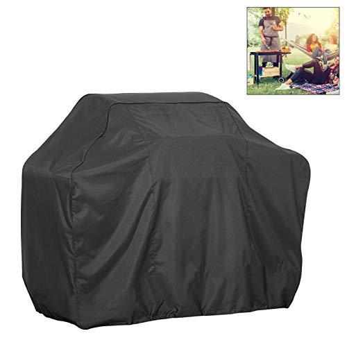 Portable Sac de rangement extérieur anti-UV étanche anti-poussière 210D Oxford Tissu BBQ Place Sac de protection charbon Barbecue Grill Cover, Taille: 145x61x117cm (Noir) (Couleur : Black)