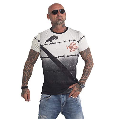 Yakuza Original Herren Read Crow T-Shirt Gr:-5XL, Farbe:-Schwarz