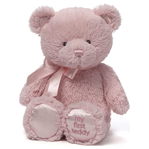 "Baby GUND My First Teddy Bear Stuffed Animal Plush, Pink, 10"""