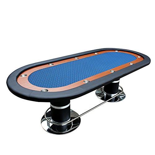 IDS Online 96' Knight #70 Plus Poker Table Blue