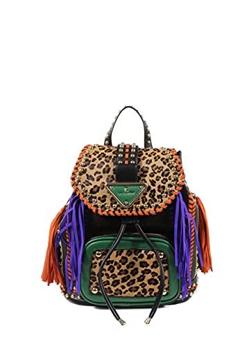 la carrie bag Mochila mujer 112MZM902SHC Multi Brown, Multi Brown, Talla única