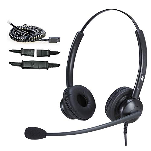 MKJ Telephone Headset for Cisco Phones Corded RJ9 Office Phone Headset with Noise Cancelling Microphone for Cisco CP-7821 7841 8841 7942G 7931G 7940 7941G 7945G 7960 7961 7961G 7962G 7965 9951 etc