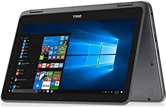"2019 Dell Inspiron 11.6"" HD 2-in-1 Multi-Touch Display Laptop, AMD A9-9420e CPU, 4GB DDR4 Memory, 128GB SSD, USB 3.1, WiFi, Bluetooth, Webcam, HDMI, Card Reader, AMD Radeon R5, Windows 10, Gray"