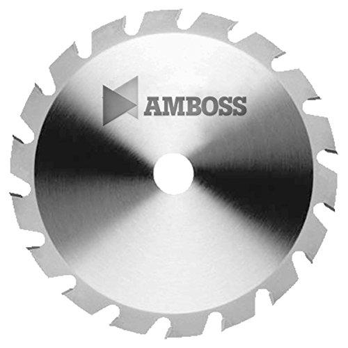Amboss - HM Kreissägeblatt - NAGELFEST - Ø 315 mm x 3,2 mm x 30 mm | für extremen Einsatz auf Baustellen | Flachzahn mit Fase (20 Zähne) | Kombinebenlöcher