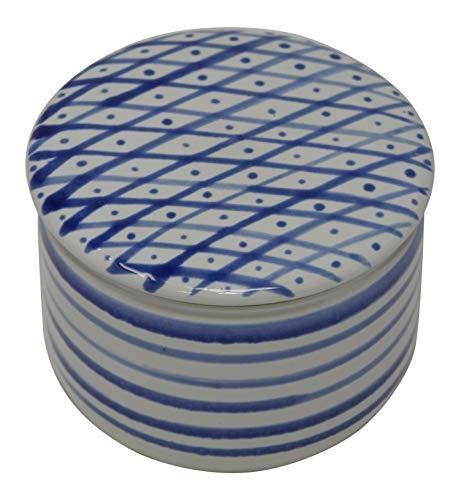 Original Französische Wassergekühlte Keramik Butterdose, Nie Mehr Harte Butter Zum Frühstück, Immer Frische Und Streichfähige Butter, ca 250 g Butter, Gro. Raute Z-G