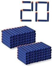 HOME BUY Plastic Foam Toy Bullet Dart Bullets for Nerk N-Stike Elite Guns (Pack of 20)