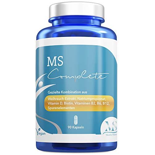 MS Complete | Weihrauch | Vitamin D B2 B6 B12 + Selen + Natriumpropionat + Zink + Biotin | Vegan | Laktose- & glutenfrei | Nahrungsergänzungsmittel