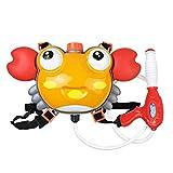 BASOYO Water Blaster Mochila Dinosaurio - Mochila de Cangrejo Pistola de Agua Juguete al Aire Libre para niños - Mochila Super Soaker Pistol para niños Mayores de 6 años