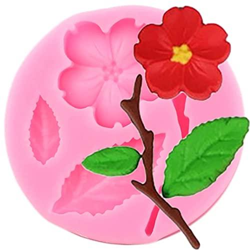 FGHHT Plum Blossom Cake Border Stampo in Silicone Fiore...