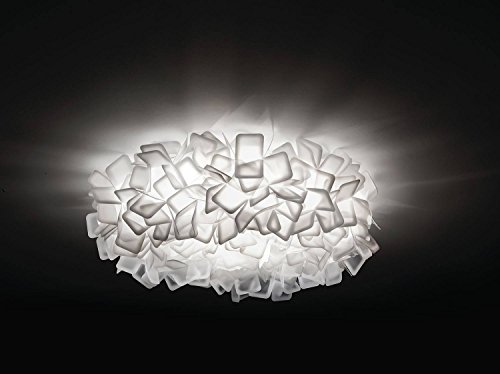 Clizia Kunststoff Deckenleuchte Slamp-Leuchten in Weiß weiß | Handgefertigt in Italien | Deckenlampe Modern Dimmbar | Lampe E27