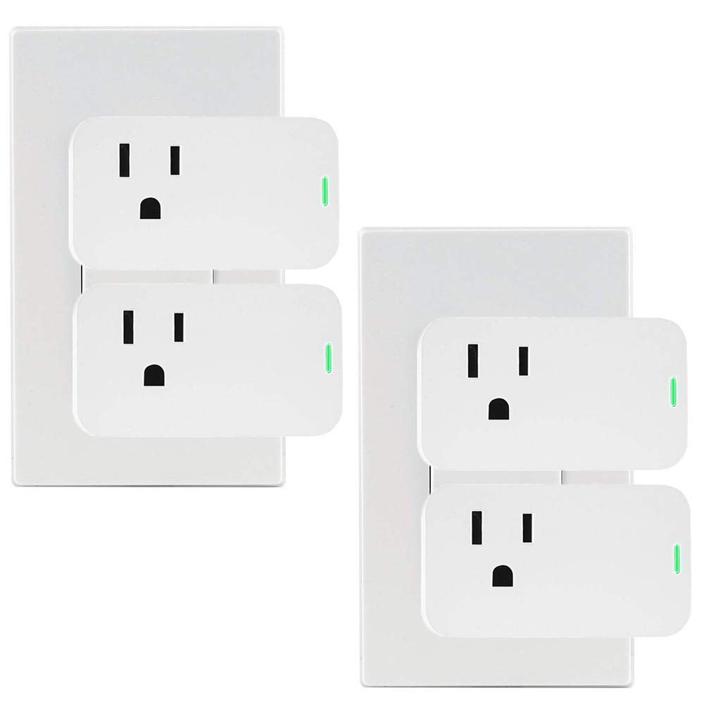 White FCC ETL Certified,Only Supports 2.4GHz Network No Hub Required Pack of 4 Un-Tech Mini Wifi Socket Smart plug Compatible with Alexa Google Assistant IFTTT Outlet Wifi Sockefor Voice Control