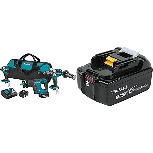 Sale!! Makita XT336T 18V LXT Lithium-Ion Brushless Cordless 3-Pc. Combo Kit (5.0Ah) with Extra 18V L...