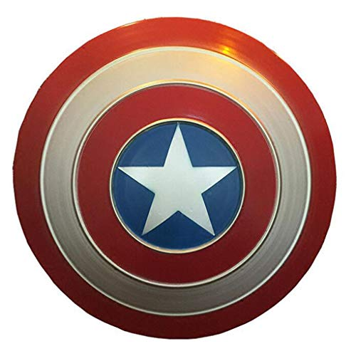 Bestting Capitán América Escudo Full Metal, Apoyos para Adultos Cosplay Escudo De Mano De La Película Edición Barra Suave Creativa Decoración De La Pared Colgante De Aluminio De Los Hombres