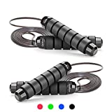 GoxRunx Jump Rope Tangle-Free with Ball Bearing Rapid Speed Jump Ropes Cable, Skipping Rope Jumping...