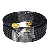 YOTENKO 16.4ft/5M RF Jumper Cable SMA Male to SMA Female Standard 50ohm Low Loss and Two-Way Radio Cord RG58 Coax Cable 5M Applications Pure Copper WiFi Antenna Extension …