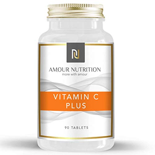 Amour Nutrition Vitamin C Plus Tablets, Added Citrus Bioflavonoids & Rosehip, Boost Immunity & Wellbeing, UK Made Quality Assured