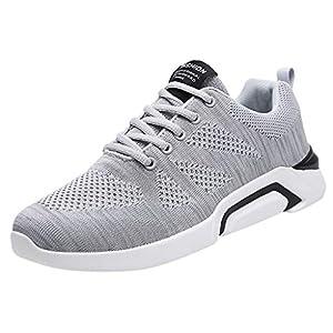 OPAKY Zapatos de Seguridad para Hombre con Puntera de Acero Calzado de Industrial y Deportiva Zapatos Voladores de Malla Tejida Zapatos Casuales con Cordones Zapatos Deportivos