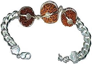 Rudraksha Combination for Career 3,7,12 Mukhi Nepal in Silver Bracelet IGL Lab Certified Original Genuine Beads (Small)