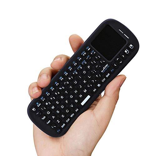 ZGQA-GQA Teclado Teclado Ratón Mini ratón inalámbrico Panel táctil Set Dry del Control Remoto, Negro
