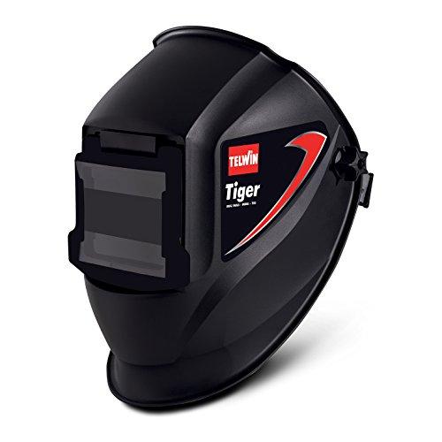 TELWIN 802818 Tiger Maschera per Saldatura Mma/Mig-Mag/Tig, 0.1 V, Nero, Tiger