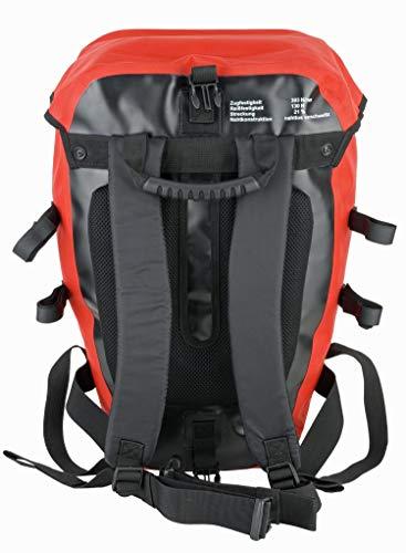 Red Loon Pro 3er Set Packtasche LKW-Plane 2 Hecktaschen 1 Rucksack Gepäckträger, Farbe:rot, Herstellernummer:VDP64135_3
