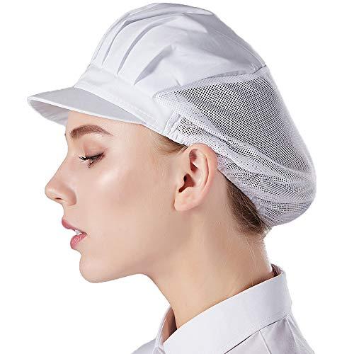 Nanxson Unisex 3 Stück Kochmütze elastich Kochen Hut Mesh atmungsaktiv Staubmütze Arbeitshut Industrie Werkstatt Hut Kappe CF9033