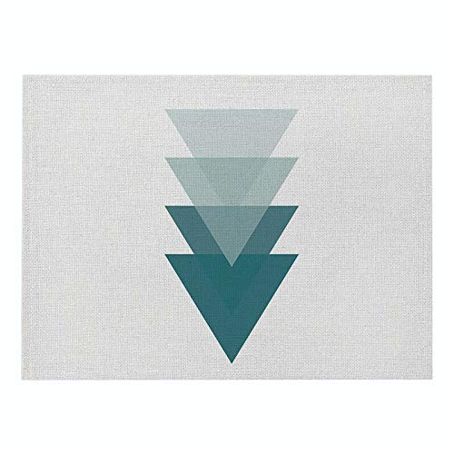 Z-LIANG Geometric Patterns Simple Style Distinctive Placemat Table Napkin Dining Table Mat Bowls Drink Coasters Kitchen Accessories Decoration (Color : CD011 4, Size : Polyester Hemp)