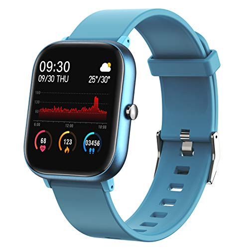 Fitness Tracker, FirYawee Smart Watch for Android Phones, Touch Screen IP68 Waterproof Smartwatch with Heart Rate Monitor Sleep Monitor, Step/Distance/Calorie Counter Fitness Watch for Women Men