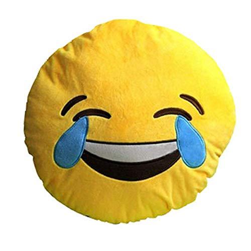 Emoji Round Cushion Pillow, by Lynnwang Design...